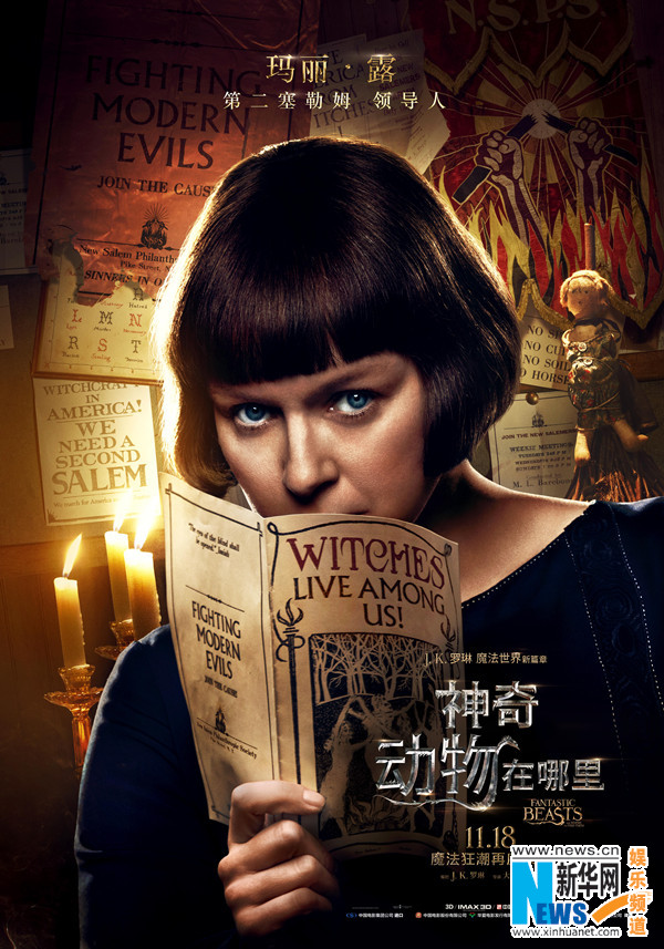 3d魔幻巨制《神奇动物在哪里》曝中文海报