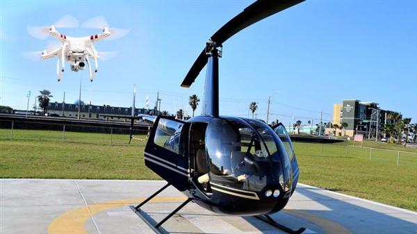 世界首例 无人机致直升机坠毁事件
