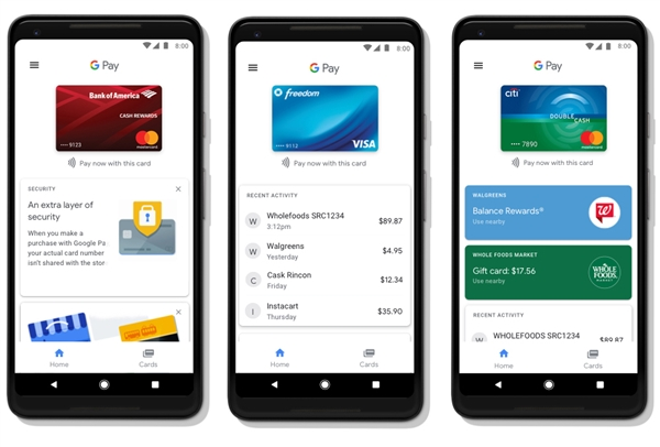 Google Pay今天正式登场 Android Pay和Google钱包合并