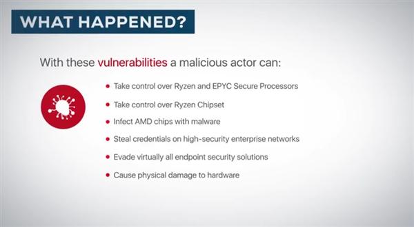 AMD Zen连曝12个高危安全漏洞:全系中招