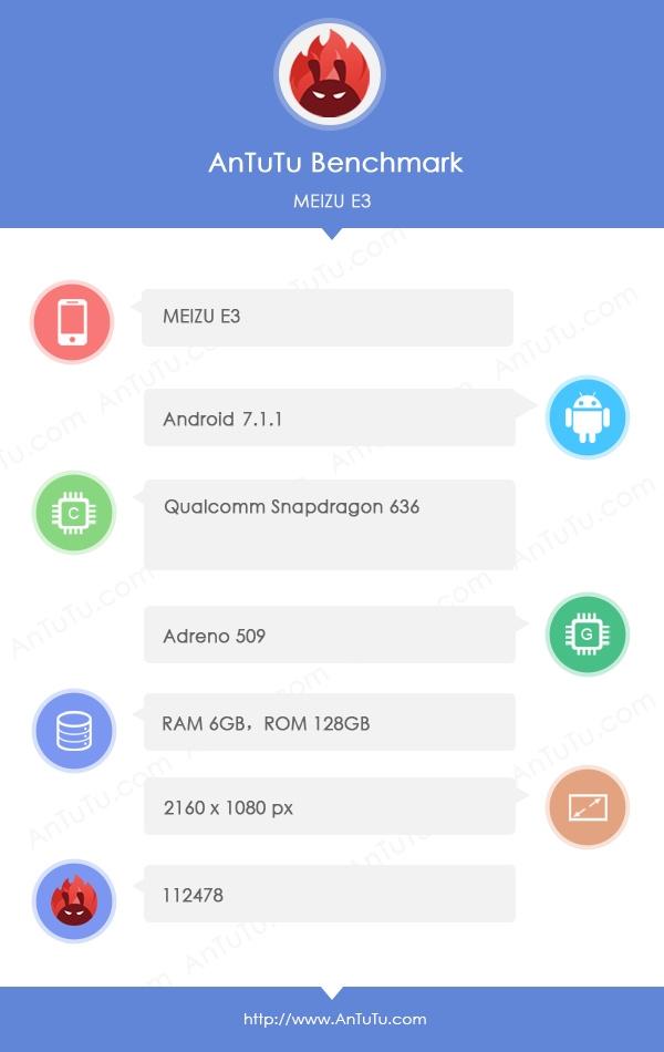 红米Note 5劲敌!魅蓝E3配置出炉:骁龙636+6GB内存