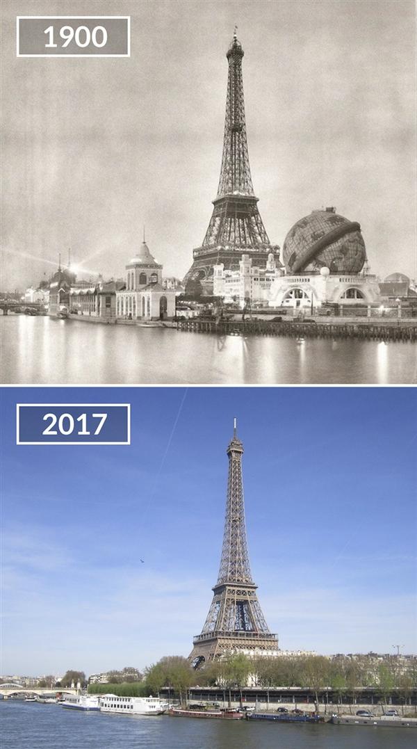 沧海桑田:100年的巴黎VS当代巴黎