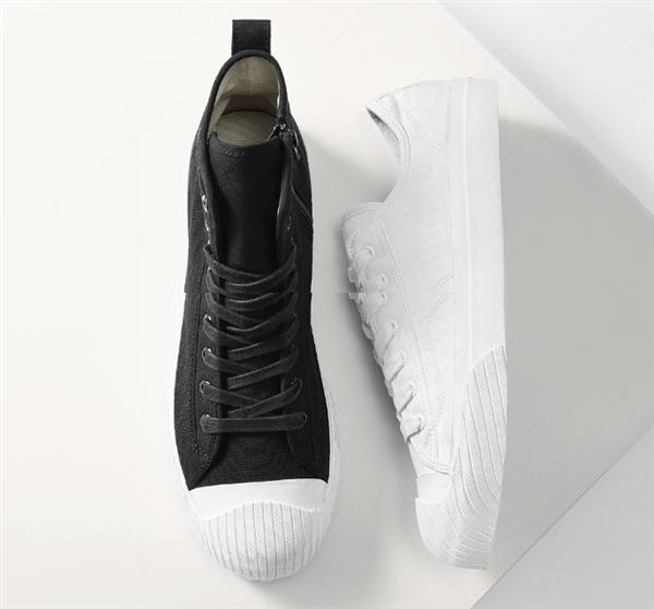 有品上架Uleemark高低帮帆布鞋:99元/防泼水