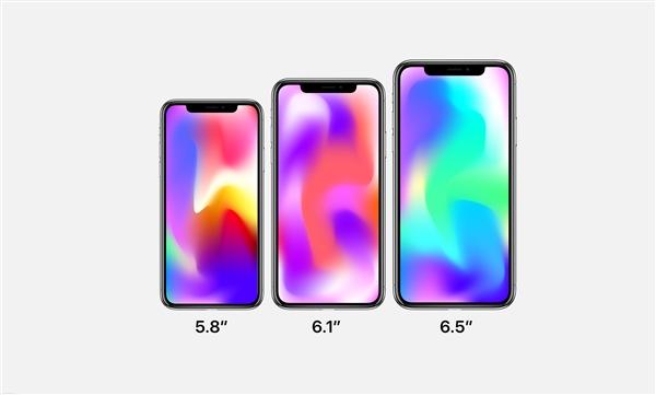 官方渲染图?感受下iPhone Xs/9/X Plus:齐配刘海屏