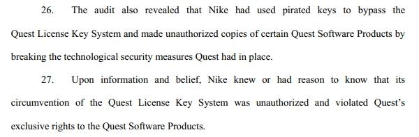 因涉滥用破解软件:耐克被软件公司起诉