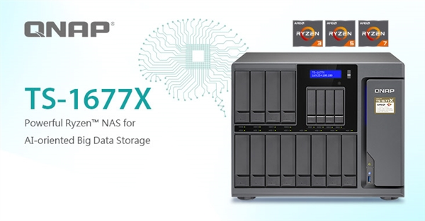 QNAP发布全新Ryzen NAS:最多16盘位、双万兆网卡