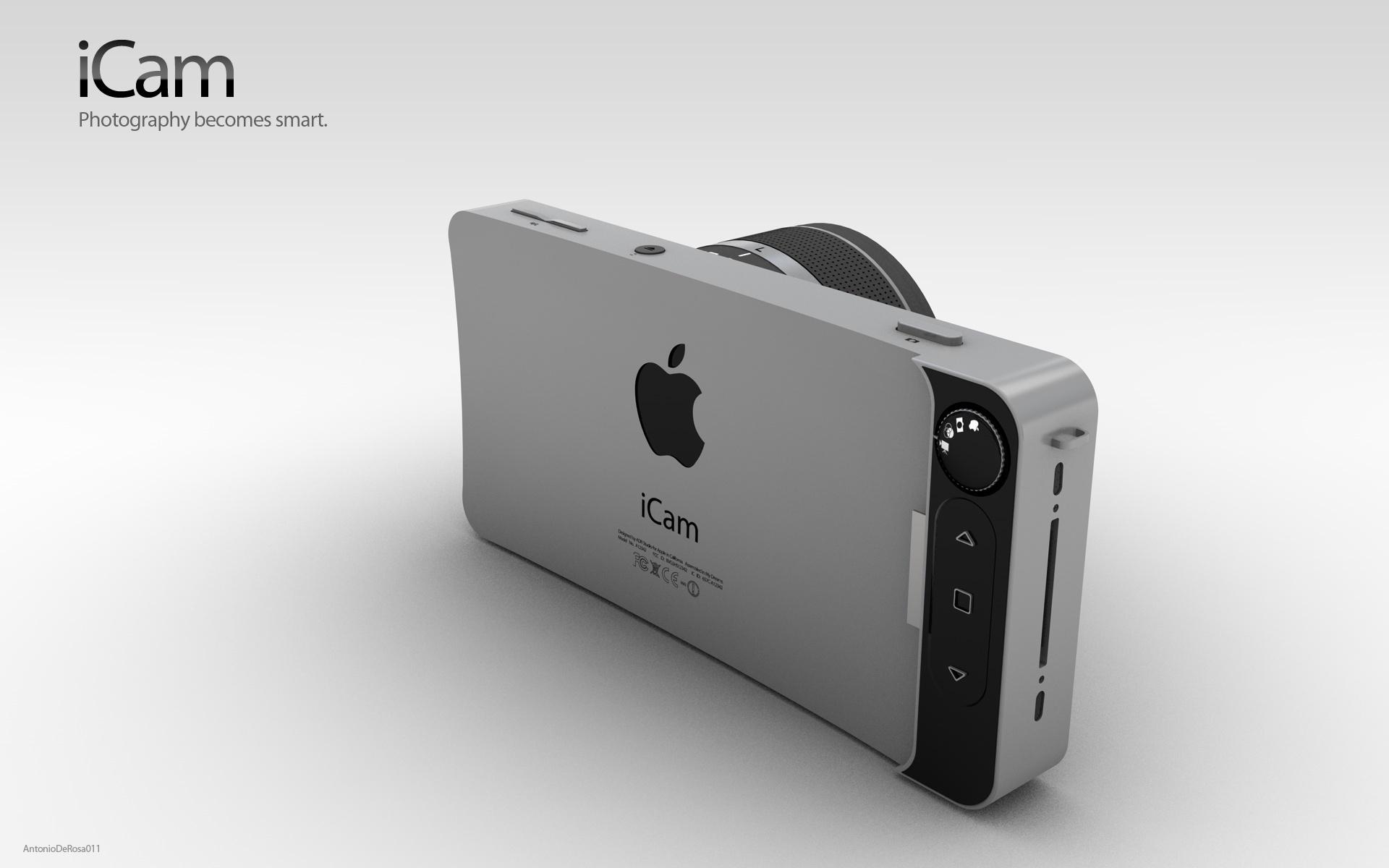 【概念设计】苹果概念相机icam; 苹果概念相机图赏 创意来自iphone!