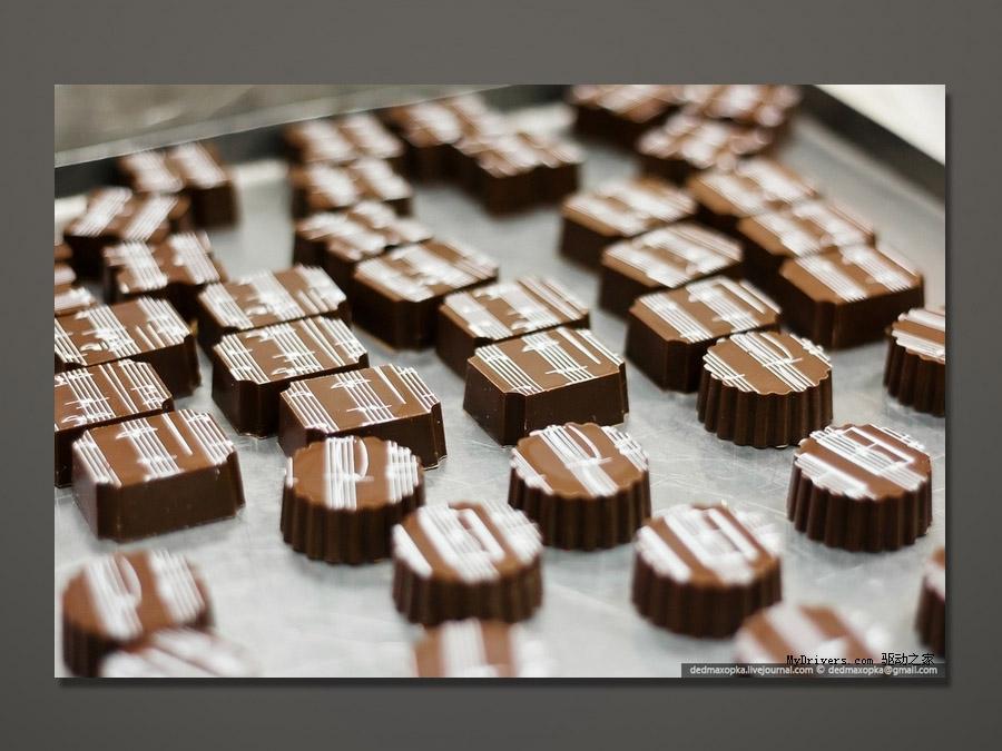 趣味的巧克力制作过程