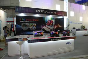 台北电脑展:微星展台产品线全线更新
