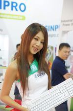 台北电脑展:各家ShowGirl争奇斗艳!