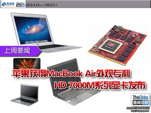 回顾:苹果获MBA外观专利 HD7000M发布