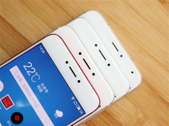 四款手机的屏幕上方对比,分别为魅族Pro6、MX6、魅蓝Note3、魅族图片