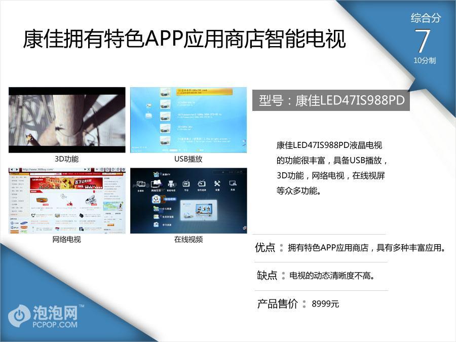 电视也能玩APP 四款高端智能电视图解