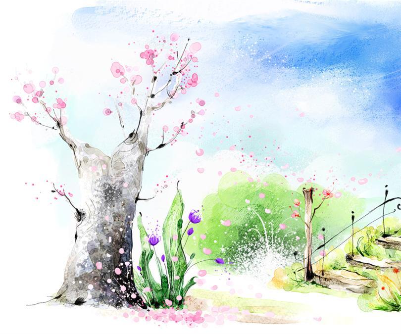 韩国唯美手绘壁纸