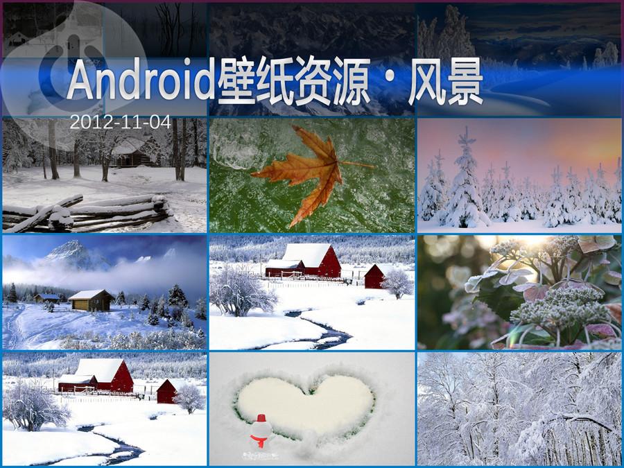 白雪中的纯美 Android风景主题壁纸集