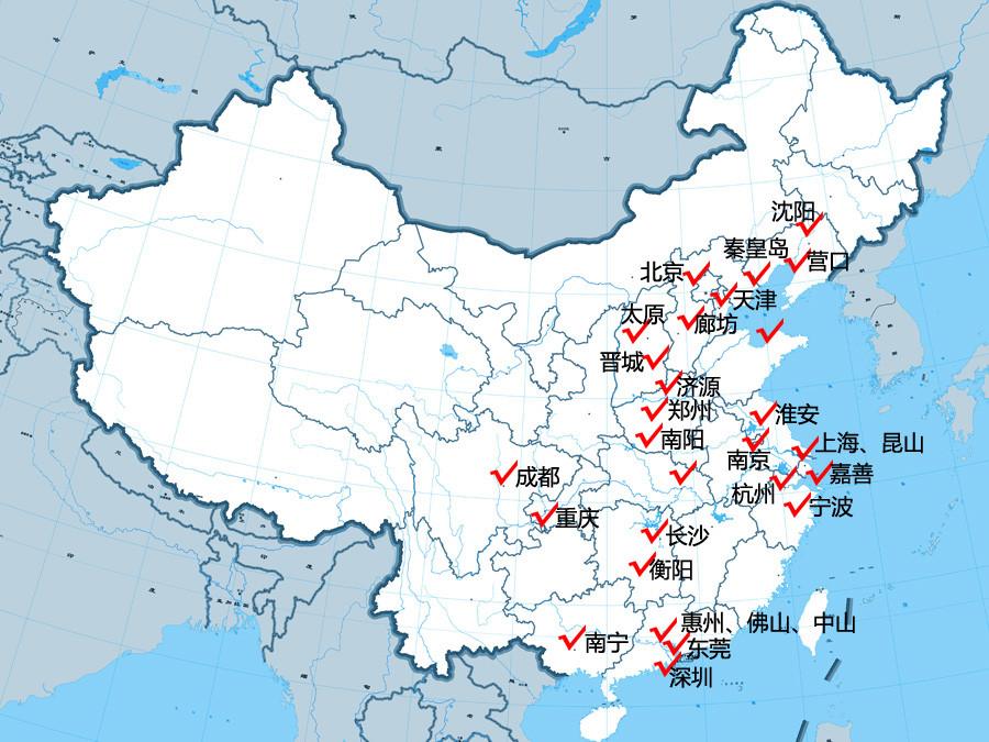 晋城到上海地图