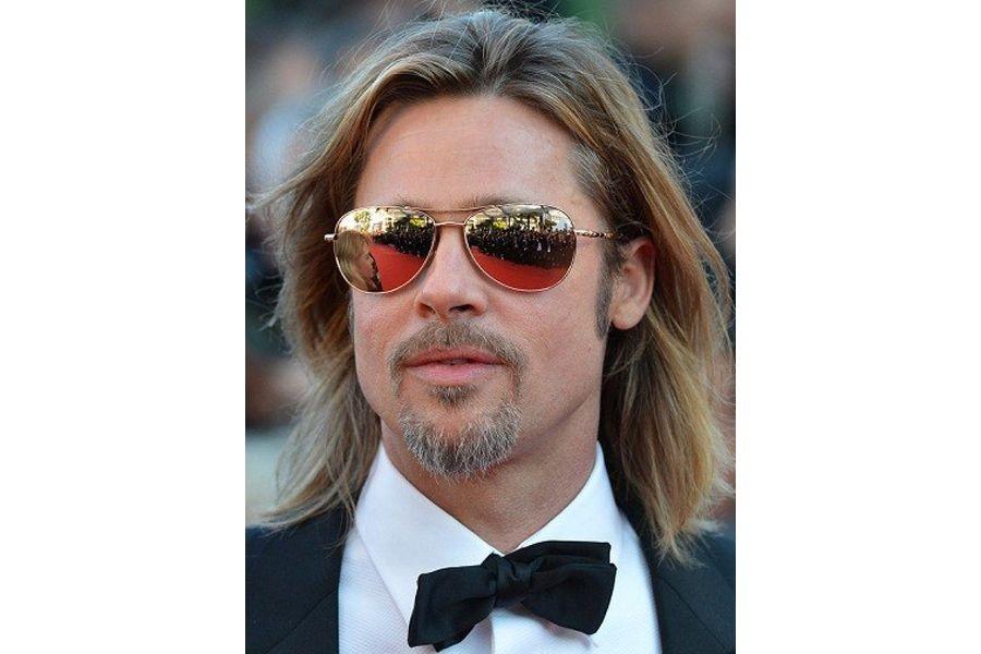 brad pitt    中长发发型能为男士增添几分艺术家气质,是很多名流