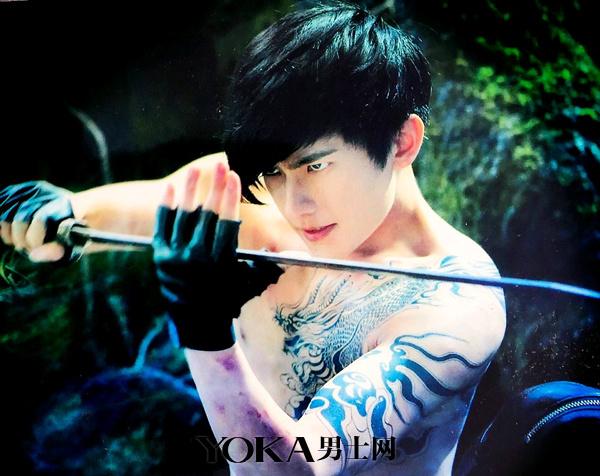 杨洋麒麟半甲纹身图案分享展示
