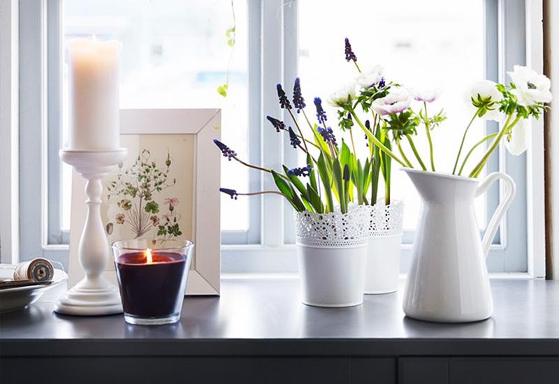 蕾丝花边的花盆,纯白色搭配各种花花草草都很