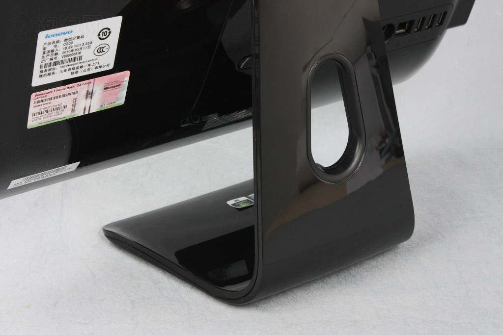 一体�9o#��._联想c200-畅悦型r(黑色外观)一体电脑原图 高清图片