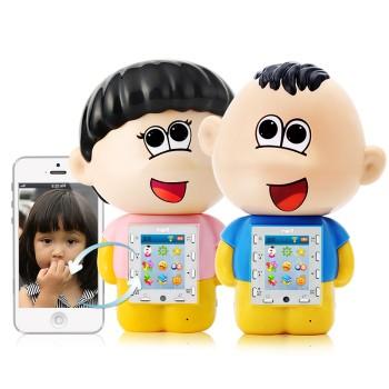 wifi视频通话早教故事机 远程看护 宝宝儿童玩具 活泼可爱粉图片2