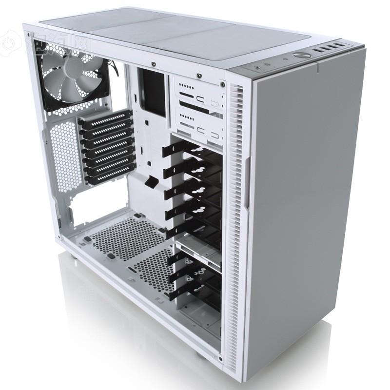 佛瑞克托设计define r5 消光白 静音机箱(fd静音风扇/模块化hdd/支持