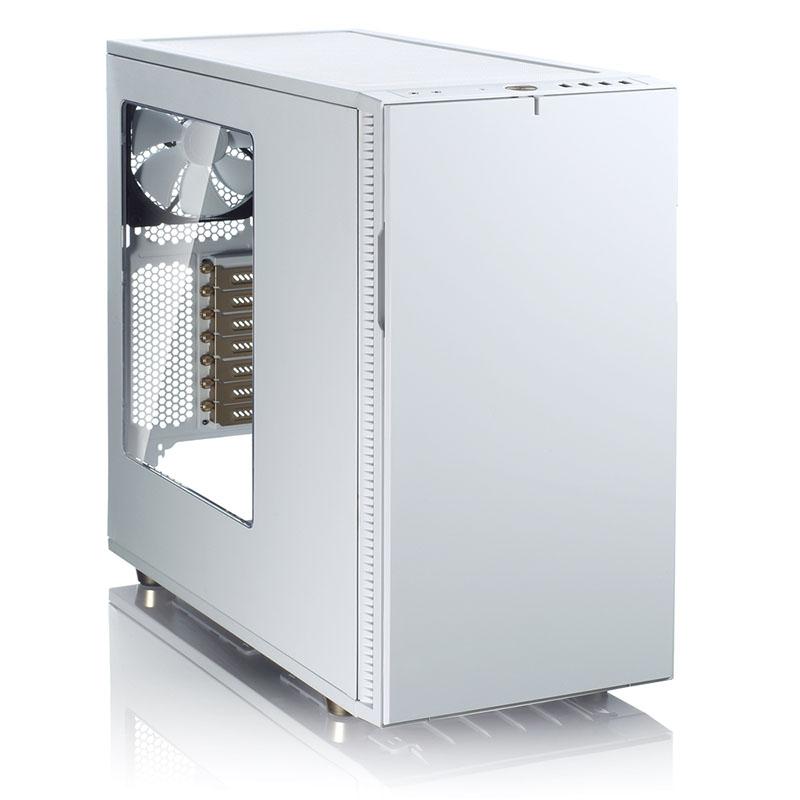 > 佛瑞克托设计define r5 限量冰金版白色 侧透 静音机箱(标配fd风扇