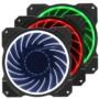 乔思伯FR-131 12CM 机箱风扇 RGB风扇 三风扇套装 (12CM/LED RGB 256色发光风扇)