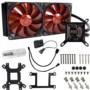 超频三巨浪240 CPU水冷散热器 (多平台/12cm*2/一体式水冷/LED红光智能风扇/cpu风扇/配硅脂)图片