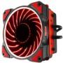 乔思伯CR-101红 CPU散热器 (多平台/4热管/下吹CPU散热器/PWM/12CM红色光效风扇/附带硅脂)图片