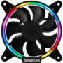 鑫谷光致RGB风扇(内置RGB灯光控制芯片/12CM流光LED光圈/大4pin供电/环形多彩变换机箱风扇)图片
