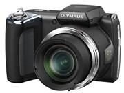 奥林巴斯 SP-620UZ 数码相机 黑色(1600万像素 3英寸液晶屏 21倍光学变焦 25mm广角)正面图片
