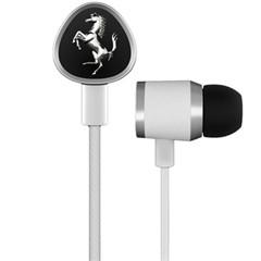 法拉利Cavallino G150 WHITE 入耳式耳麦耳机 白色 来自汽车工艺的灵感 一键线控 佩戴舒适