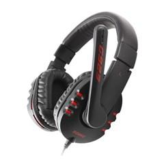 硕美科G923 头戴式 电脑游戏竞技耳麦 带线控 双插头 黑色
