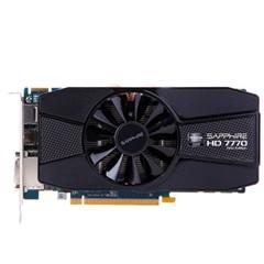 蓝宝石HD 7770 2GB GDDR5 白金版 1000/4500MHz 2GB/128位 GDDR5 PCI-E 显卡