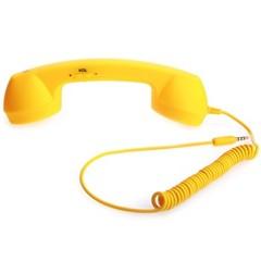 沐阳Style Phone 防辐射橡胶封釉听筒 适用于手机/IPAD笔记本  iPhone专用 黄色
