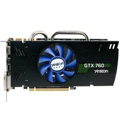 盈通GTX760-4096GD5 PA 游戏高手 980/6008MHz 4G/256bit GDDR5显卡