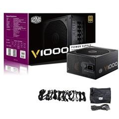 酷冷至尊V1000额定1000W电源(80PLUS金牌/全模组/静音/主动式PFC/支持背线/质保5年)