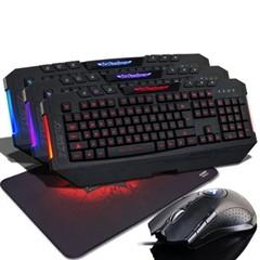 黑爵魔域键盘 有线游戏键盘笔记本外接键盘usb台式三色背光键盘 台式电脑带光 黑暗骑士三色背光键盘