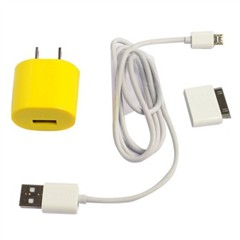 羽博YB-704 智能电源适配器/手机充电器数据线 组合套装 颜色随机