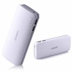 乔威Joway乔威移动电源 手机通用充电宝器10000毫安移动便携备用电池 白色官方标配+通用一拖三数据线