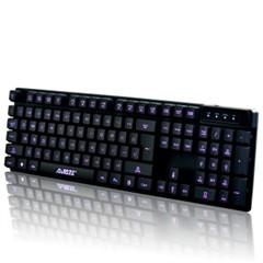 黑爵机械战士背光键盘套装 笔记本有线夜光发光外接键盘 lol电竞游戏套装 机械电竞风扇三件套