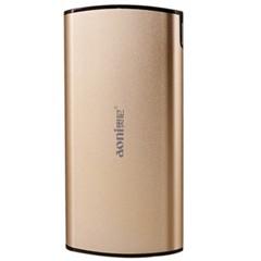 奥尼S90聚合物电池移动电源充电宝土豪金色