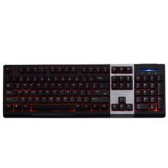 黑爵英魂之刃 有线游戏键盘 黑色
