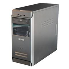 神舟新梦K30 D1 台式主机(赛扬双核G1840 4G 500G DVD GT610 1G独显)黑