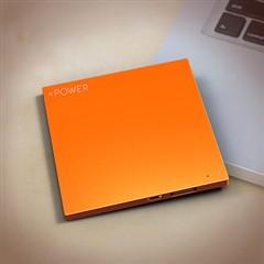 Lessmore迷你饼干超薄3D色彩移动电源2600毫安 橘色