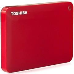 东芝V8 CANVIO高端分享系列2.5英寸移动硬盘(USB3.0)2TB(活力红)