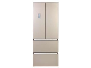 西门子BCD-401W(KM40FA30TI) 401升L变频 多门冰箱(浅金色) 硅滤膜保湿