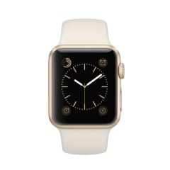 苹果Watch Sport 智能手表(38mm/金色铝金属表壳/古董白色运动型表带)