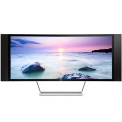 惠普ENVY 34c 34英寸曲面多媒体显示器 (21:9 WQHD超高清 支持画中画 内置音箱 可壁挂 自带遥控器)